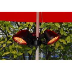Pod parasolowy elektryczny promiennik podczerwieni czarny 1500 W