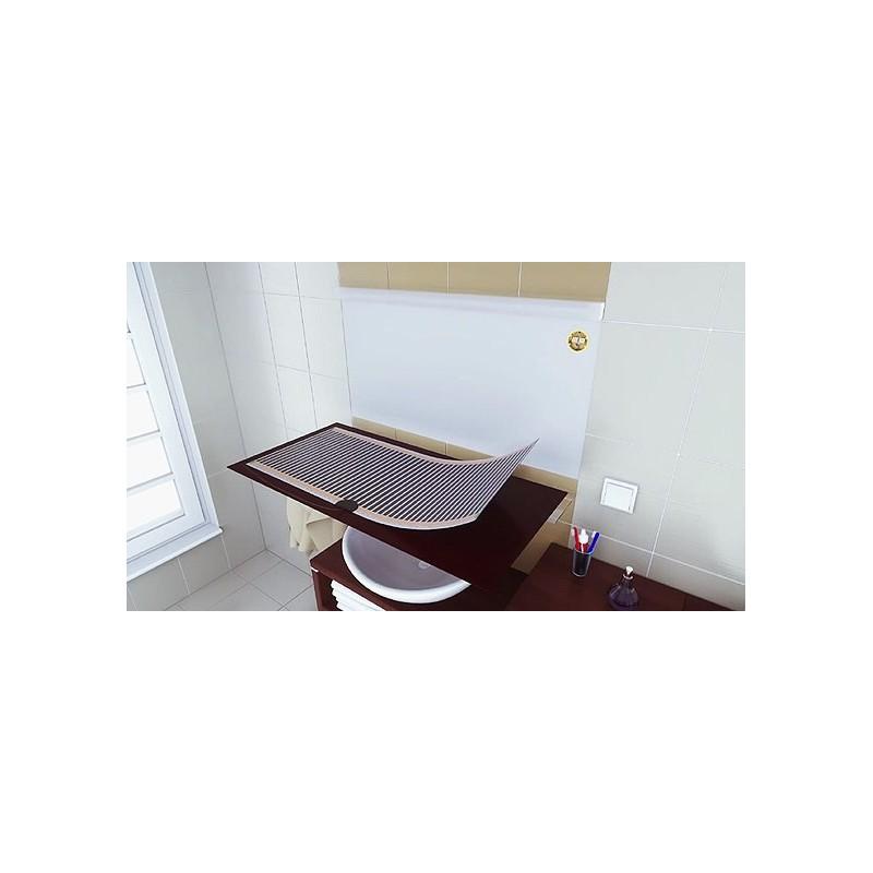 Mata grzewcza pod lustro, folia grzewcza pod lustro 52x52 cm samoprzylepna