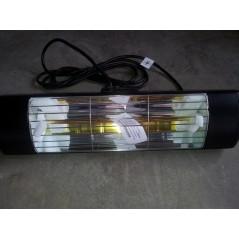 HLW15BGIP55 - Czarny 1500W ogrzewanie na podczerwień, złota lampa