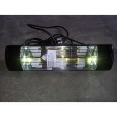 HLW20BGIP55 - Czarny 2000W promiennik ciepła, złota lampa