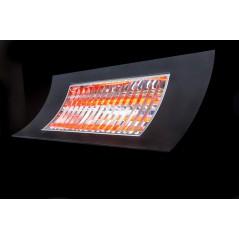 OASI - Czarny promiennik podczerwieni o mocy 1000/2000W + pilot