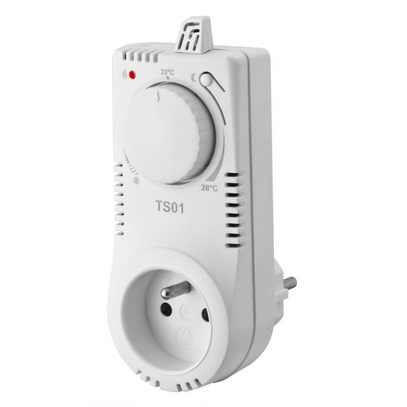 Termostat gniazdkowy TS01- bardzo prosty termostat