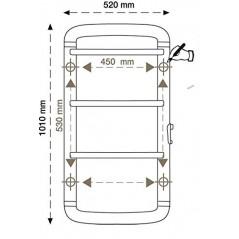 Acanto 110 Biały - 450W grzejnik łazienkowy elektryczny na podczerwień