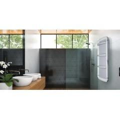 Helisea 110 Biały - 450W grzejnik elektryczny łazienkowy na podczerwień dwustronny