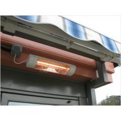 HLW15GIP55 - Biały 1500W elektryczne ogrzewanie na podczerwień, złota lampa