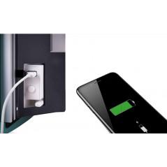 DEVA Czarne Szkło - grzejnik łazienkowy elektryczny 1500W