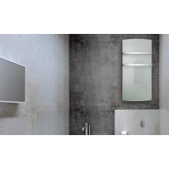 DEVA Białe Szkło - grzejnik łazienkowy elektryczny 1500W