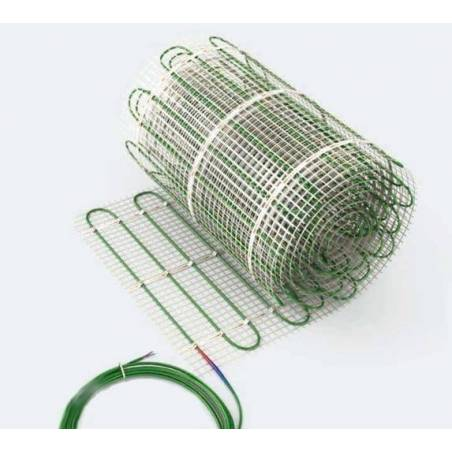 Dwuobwodowa mata grzewcza jednostronnie zasilana - 8 m2 - Green 562/1124 W