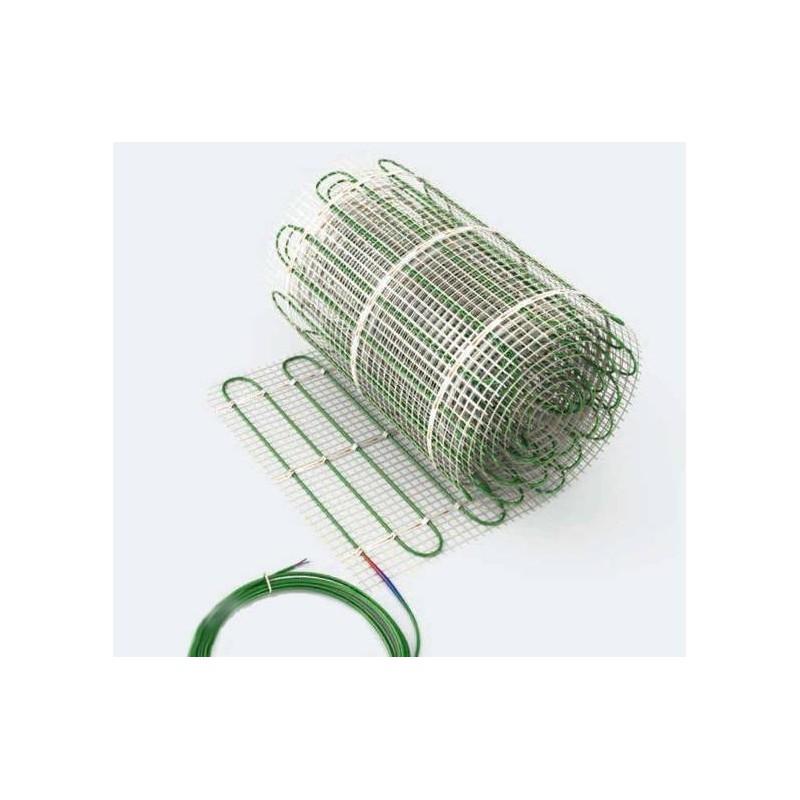 Dwuobwodowa mata grzewcza jednostronnie zasilana - 9 m2 - Green 611/1222 W