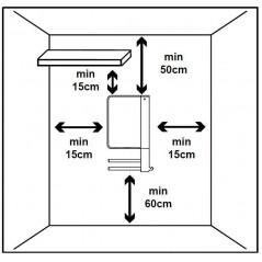 WINDY - Łazienkowy grzejnik elektryczny z termostatem tygodniowym
