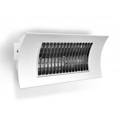 OASI - Biały promiennik podczerwieni o mocy 1000/2000W żarnik z włókna węglowego