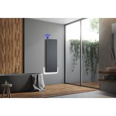 ICON 15 Wi-Fi – kolor Antracyt – 1500W pionowy energooszczędny grzejnik elektryczny z wbudowanym modułem Wi-Fi
