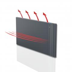 KLIMA 10 - 1000W grzejnik elektryczny energooszczędny – kolor Antracyt