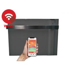 KLIMA 7 Wi-Fi z relingiem szara - 750W grzejnik elektryczny energooszczędny z wbudowanym modułem Wi-Fi