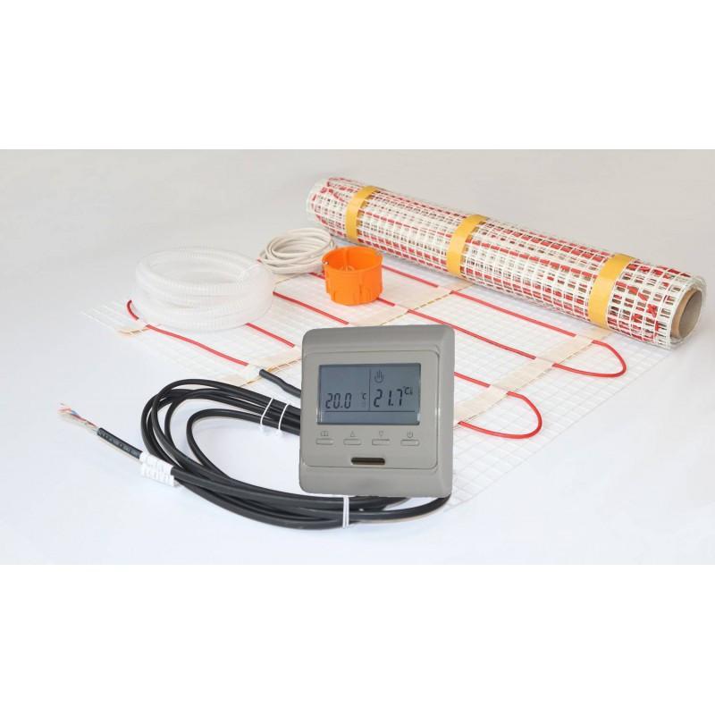 Novli zestaw 1 - Mata grzewcza NVMGW + termostat programowalny - 9 m2 - 150 W/m2