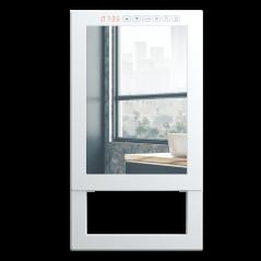 QUADRO VISIO - elektryczny grzejnik łazienkowy - front z lustra oraz termostatem tygodniowym