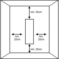 Deko - 1000W minimalne odległości od ścian i sufitu