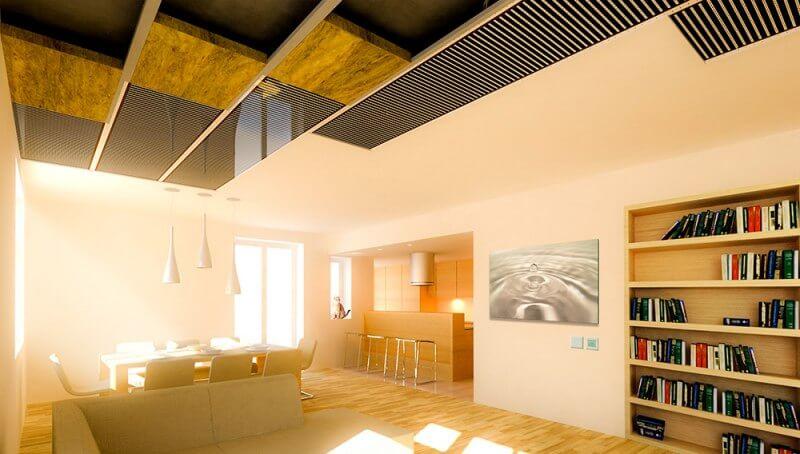 elektryczne ogrzewanie sufitowe - mieszkania, domy