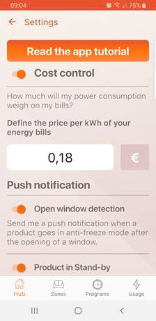 Powiadomienia w aplikacji do Klima WI-FI