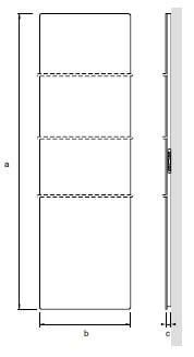 Wymiary panela na podczerwień sagitta