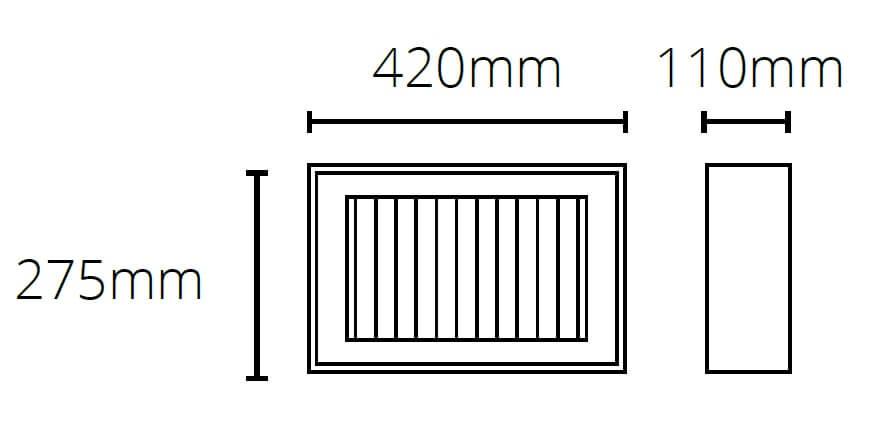 Promiennik podczerwieni hlq20 o wymiarach podanych na obrazku.
