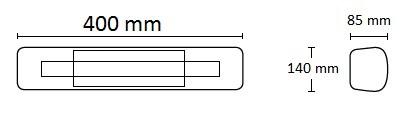 Promiennik podczerwieni vlrw15 o wymiarach podanych na obrazku.